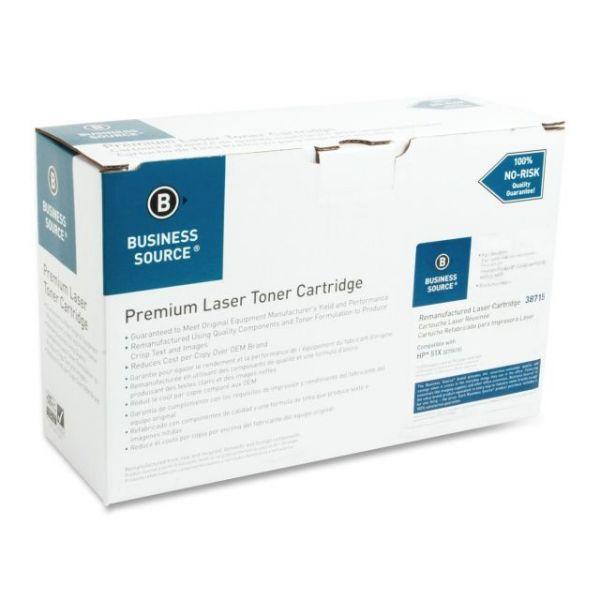 Business Source Remanufactured HP 51X (Q7551X) Toner Cartridge