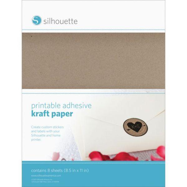 "Silhouette Printable Sticker Paper 8.5""X11"" 10/Pkg"