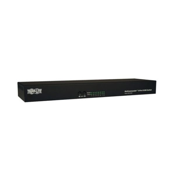 Tripp Lite 8-Port Cat5 KVM Switch VGA USB PS/2 1URM Rackmount