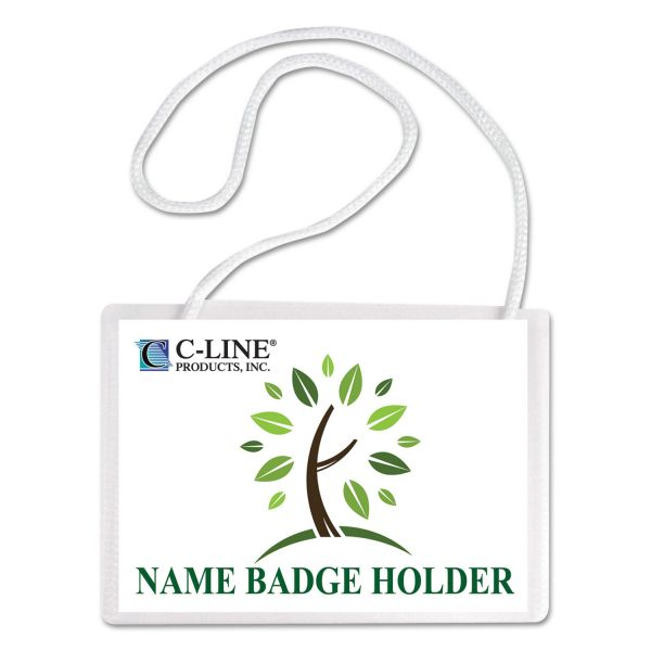 C-Line Biodegradable Hanging Name Badge Kits