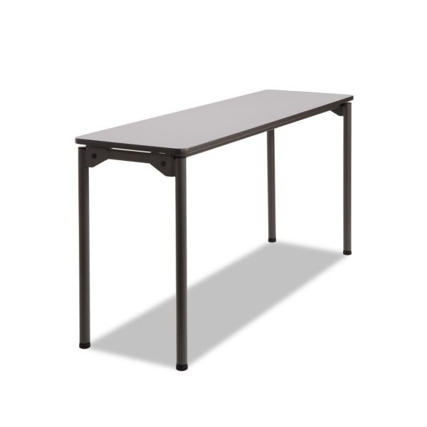 Iceberg Maxx Legroom Rectangular Folding Table, 60w x 18d x 29-1/2h, Gray/Charcoal