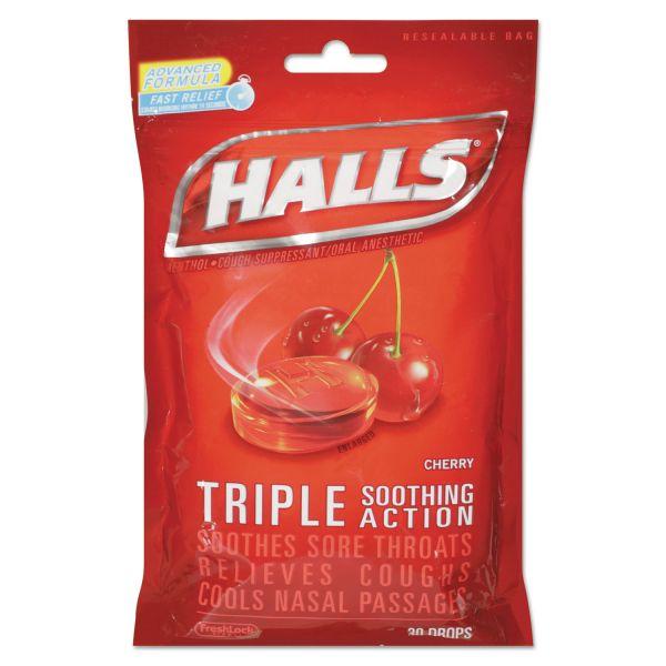 HALLS Triple Action Cough Drops