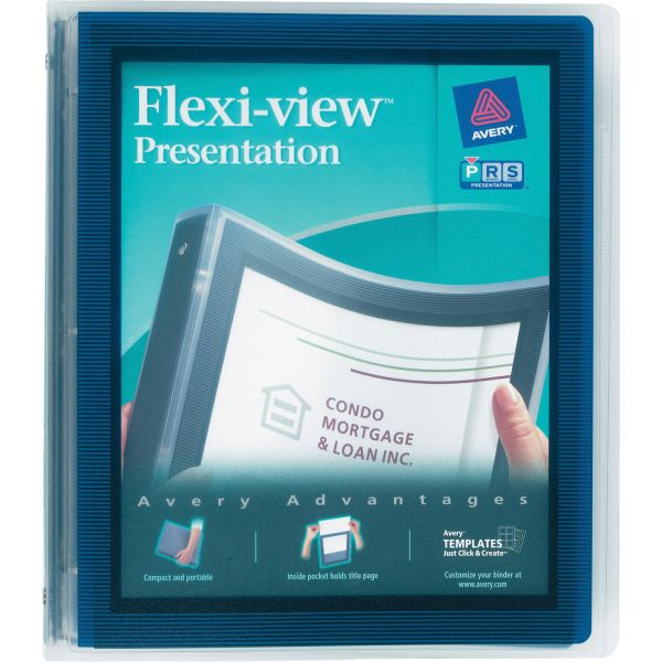 """Avery Flexi-View 1"""" 3-Ring View Binder"""