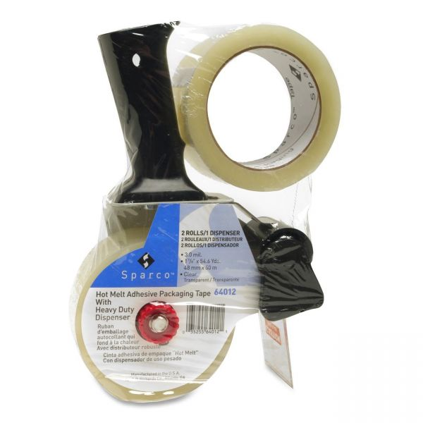 "Sparco Heavy Duty 2"" Packing Tape with Pistol Grip Dispenser"