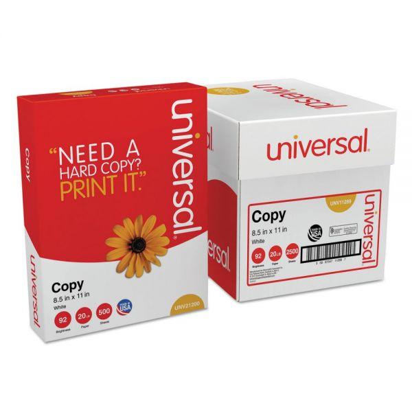Universal White Copy Paper, 5 Reams/Case