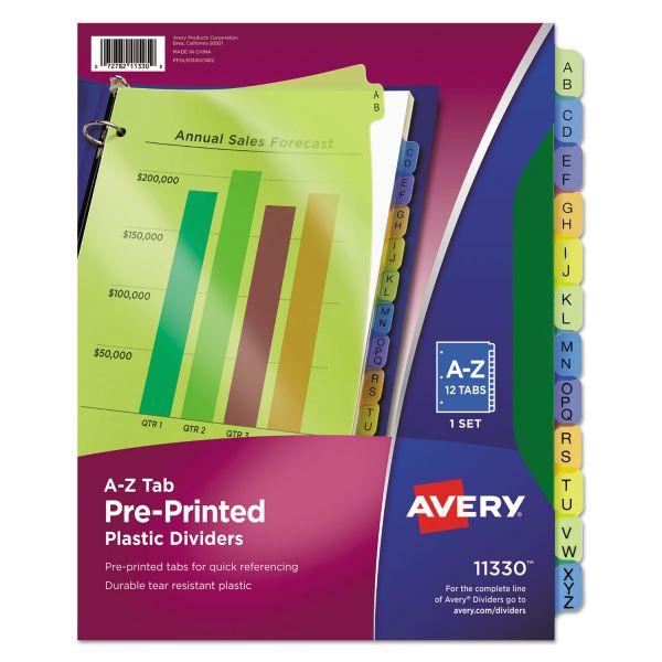 Avery Preprinted Alphabet Tab Index Dividers