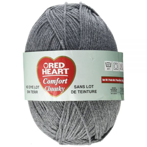 Red Heart Comfort Chunky Yarn - Smoke