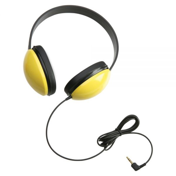 CALIFONE CHILDRENS STEREO YELLOW HEADPHONE LIGHTWEIGHT