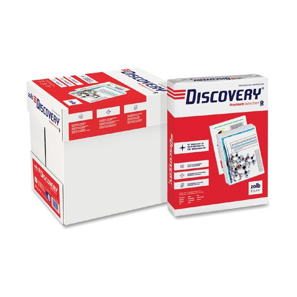 Discovery Premium Three-Hole Punched Multi-Purpose White Copy Paper