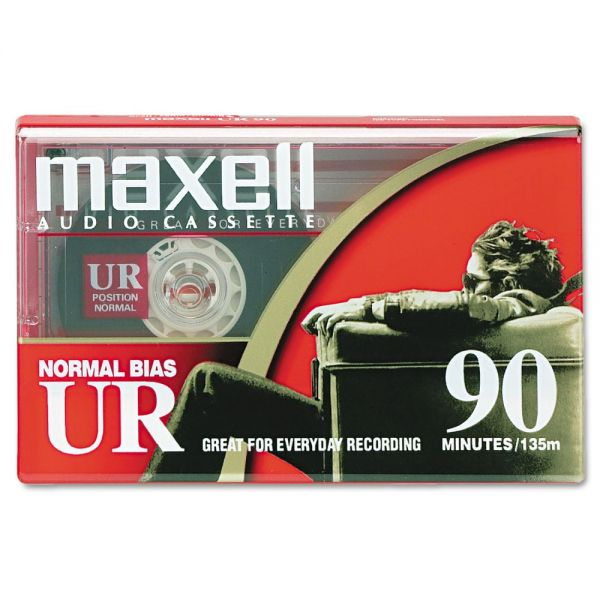 Maxell Dictation and Audio Cassette, Normal Bias, 90 Minutes (45 x 2)