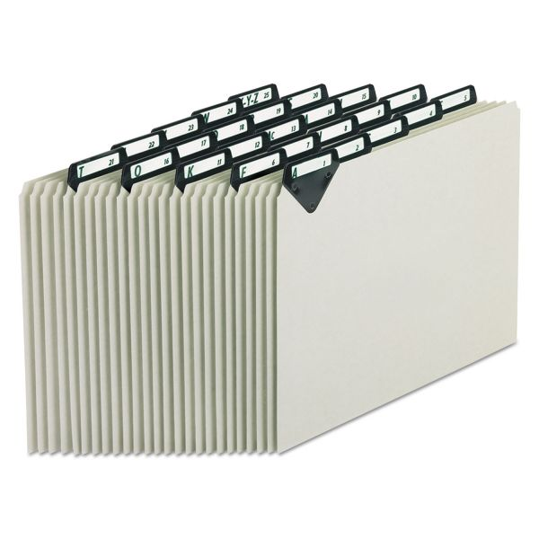Pendaflex Alphabetic Top Tab Recycled Pressboard File Guides