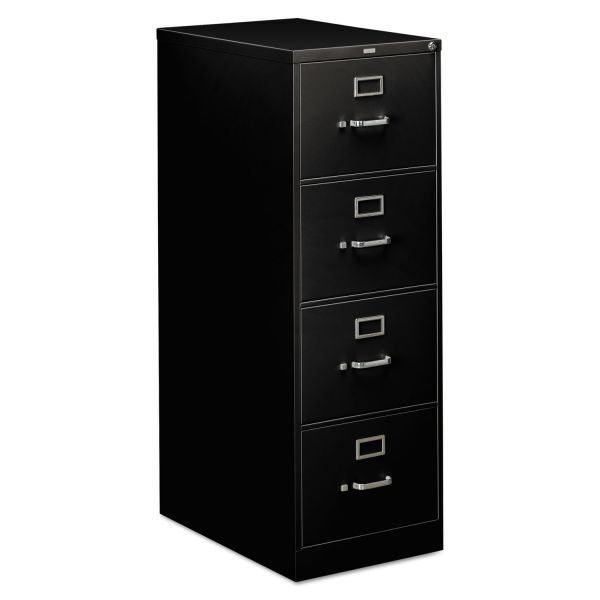 HON 310 Series Four-Drawer, Full-Suspension File, Legal, 26-1/2d, Black