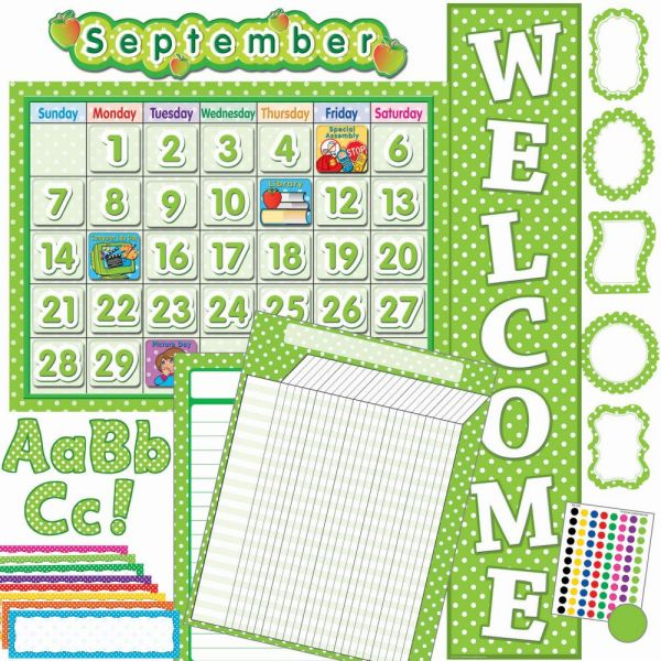 Teacher Created Resources Lime/Dots Accents Board Set
