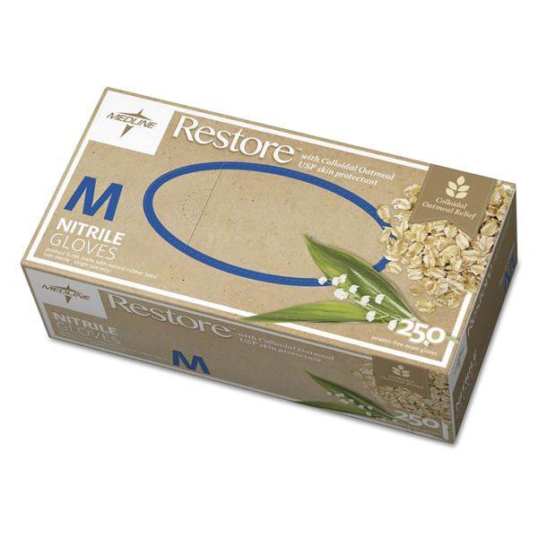 Medline Restore Nitrile Exam Gloves w/Oatmeal