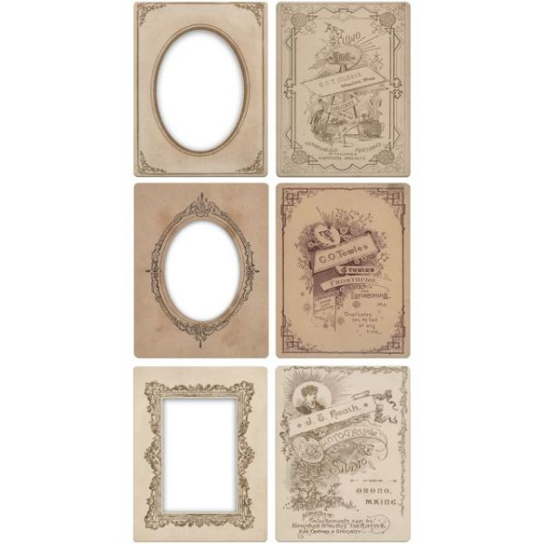 Idea-Ology Mini Cabinet Card Frames 6/Pkg
