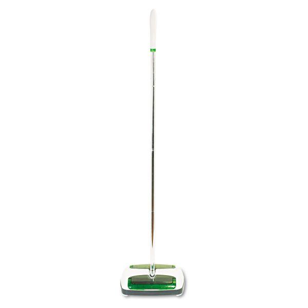 """Scotch-Brite Quick Floor Sweeper, Rubber Bristles, 42"""" Aluminum Handle, White"""