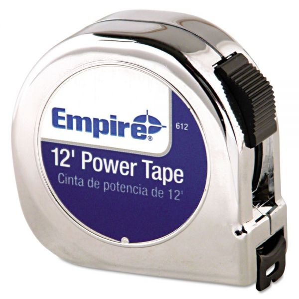 "Empire Power Tape Measure, 5/8"" x 12ft, Black Case"