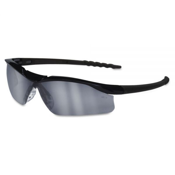 MCR Safety Dallas Wraparound Safety Glasses, Black Frame, Gray Indoor/Outdoor Lens