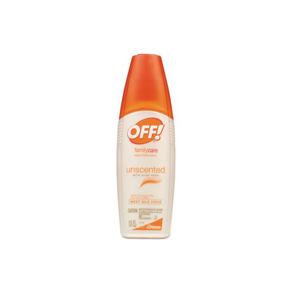 OFF! FamilyCare Insect Repellent Spray, 6 oz Spray Bottle, Unscented, 12/Carton