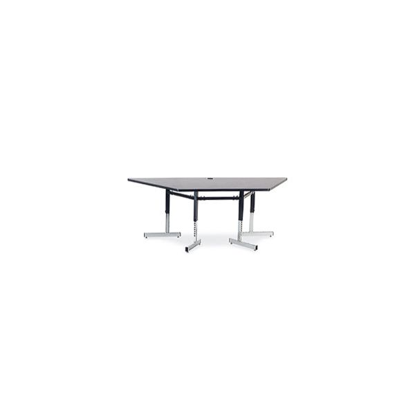 8700 Series Height Adjustable Trapezoid Activity Table