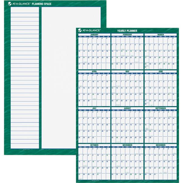 AT-A-GLANCE Vertical Erasable Wall Planner, 32 x 48, 2019