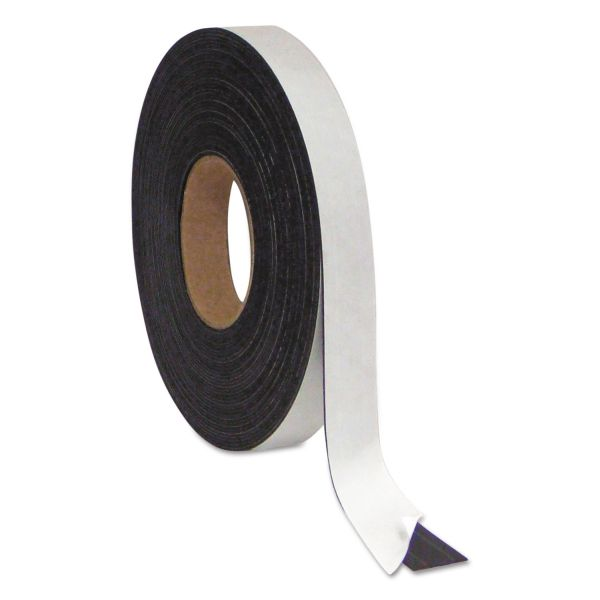 "MasterVision Magnetic Adhesive Tape Roll, Black, 1"" x 50 Ft."