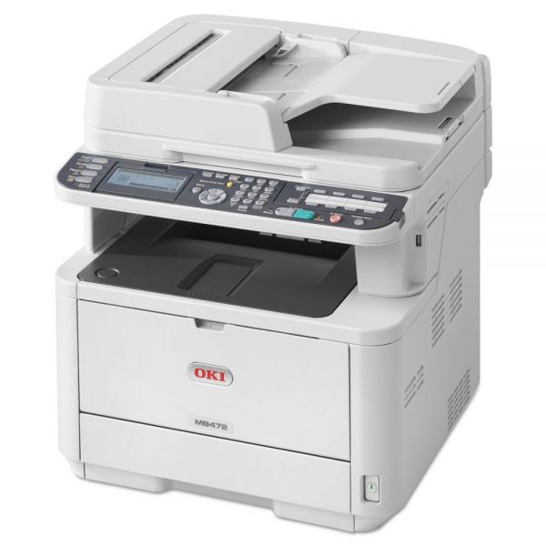 Oki MB472W Monochrome Wireless Multifunction Laser Printer, Copy/Fax/Print/Scan