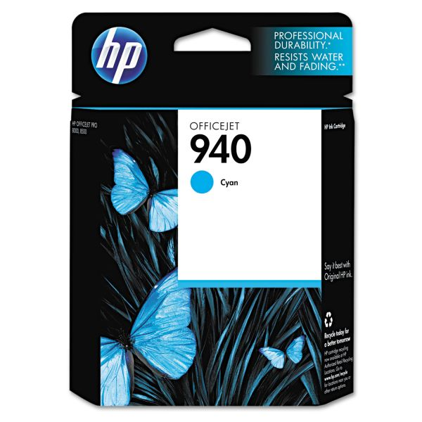 HP 940 Cyan Ink Cartridge (C4903AN)