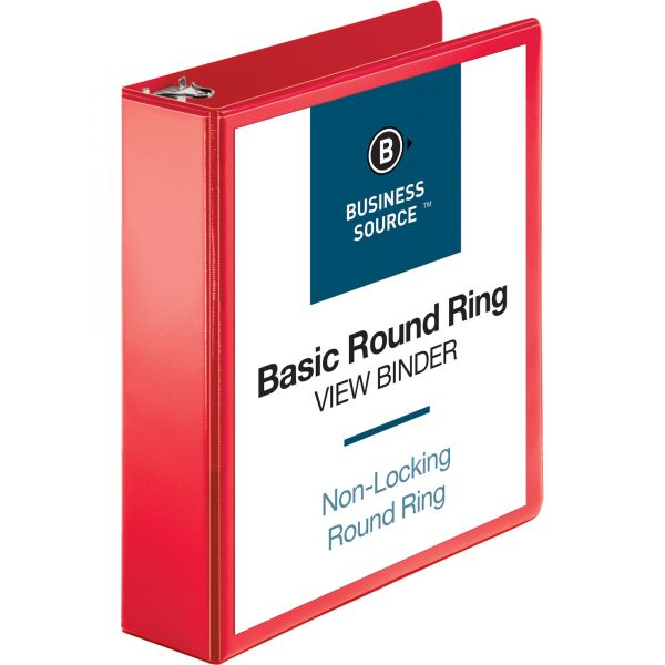Business Source Round Ring Binder