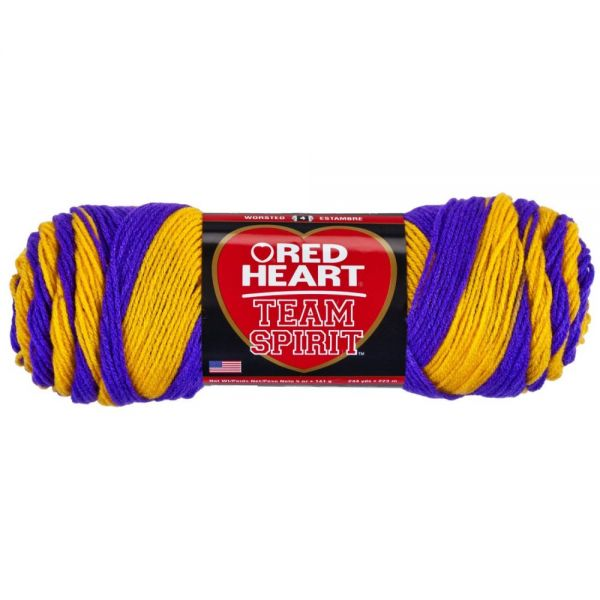Red Heart Team Spirit Yarn - Purple/Gold
