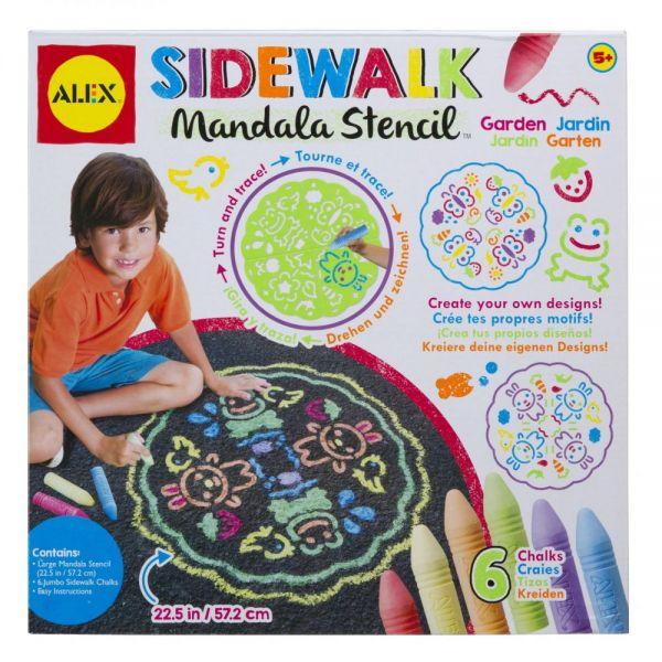 ALEX Toys Artist Studio Sidewalk Mandala Garden Stencil Kit