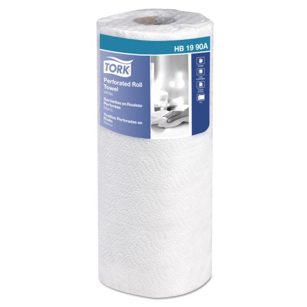 """Tork Universal Perforated Towel Roll, 2-Ply, 11""""Wx9""""L, White, 84 Shts/Roll, 30RL/Ctn"""
