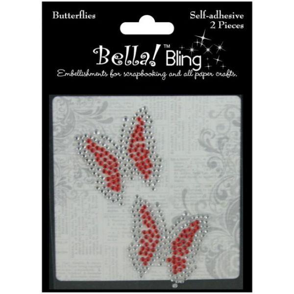 Bling Self-Adhesive Rhinestone Butterflies 2/Pkg