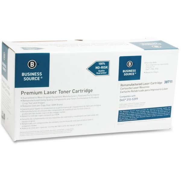Business Source Remanufactured Dell 310-5399 Black Toner Cartridge