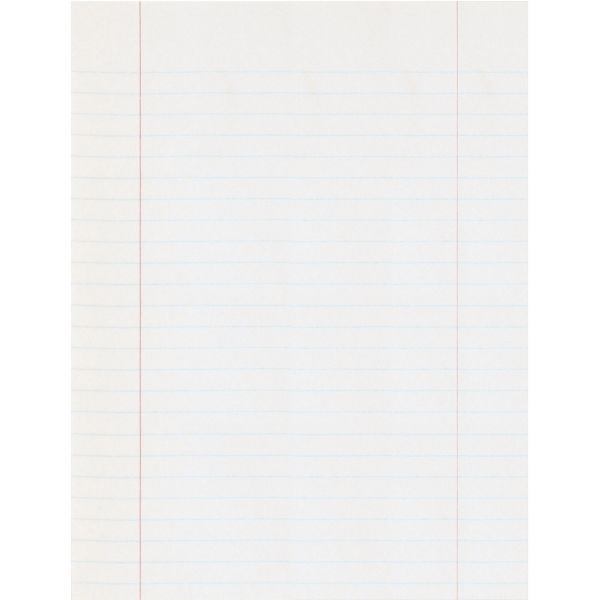 Pacon Essay/Composition Paper, Red Margin, 8-1/2 x 10-1/2, White, 500 Sheets per Ream