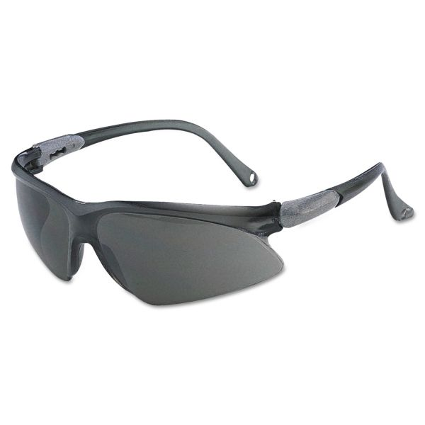 Jackson Safety* V20 Visio Safety Glasses, Black Frame, Black Indoor/Outdoor Lens