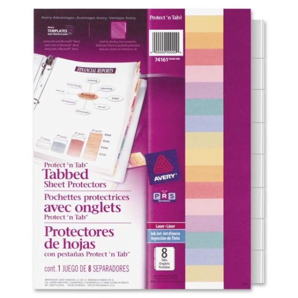 Avery Protect 'n Tab Top Loading Sheet Protectors With Tabs