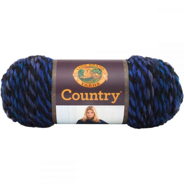 Lion Brand Country Yarn - Freeport Blue