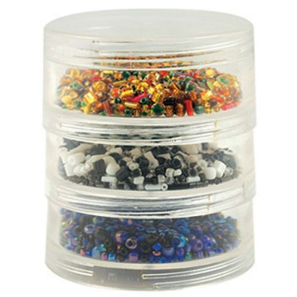 Craft Medley Bead Storage Screw Stack Cannisters