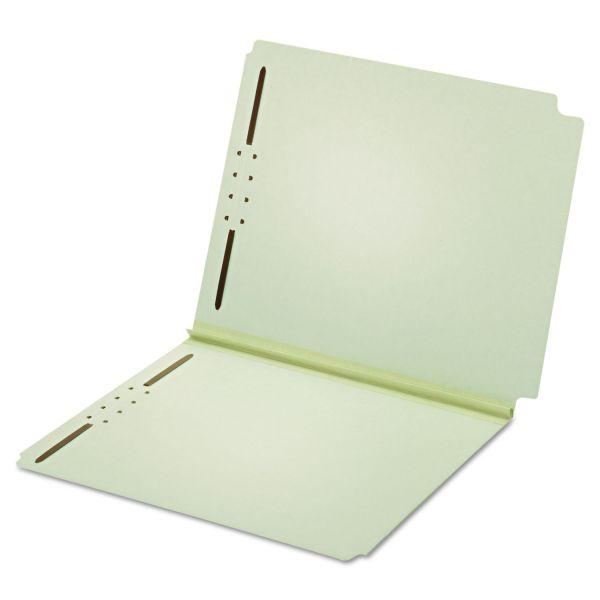 Globe-Weis Dual Tab Pressboard File Folders With Fasteners