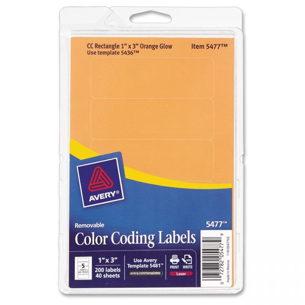 Avery Print Or Write Removable Color Coding Labels