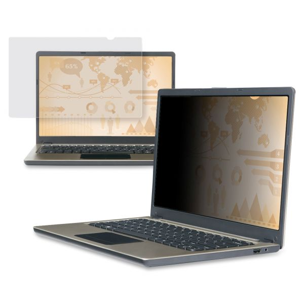 "3M PF12.1W Privacy Filter for Widescreen Laptop 12.1"" Gray"