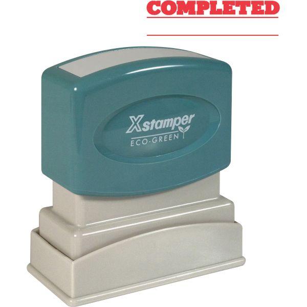 Xstamper COMPLETED Stamp