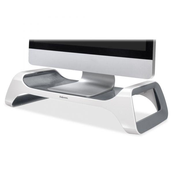 Fellowes I-Spire Series Monitor Lift Riser, 20 x 8 7/8 x 4 7/8, White/Gray