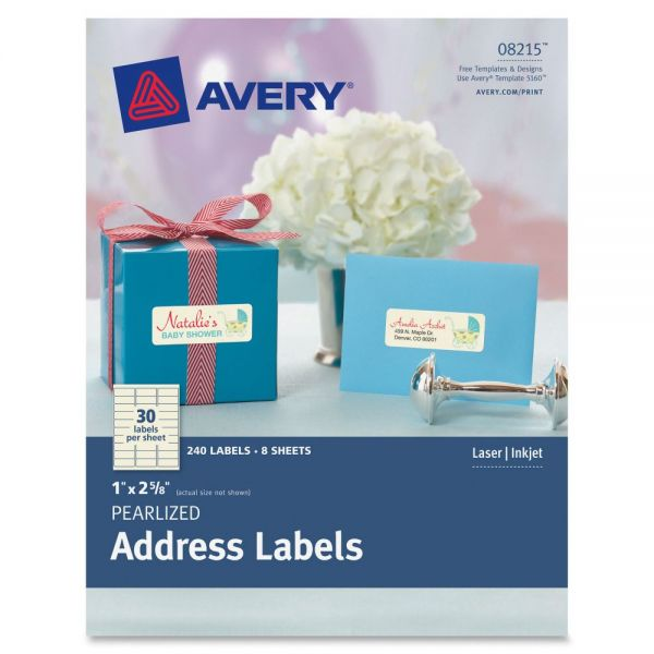 Avery Pearlized Address Labels