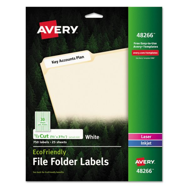Avery EcoFriendly File Folder Labels