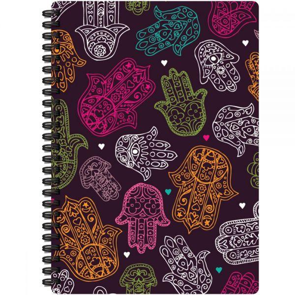 "Jewel Tones Spiral-Bound Notebook 7""X9.5"""
