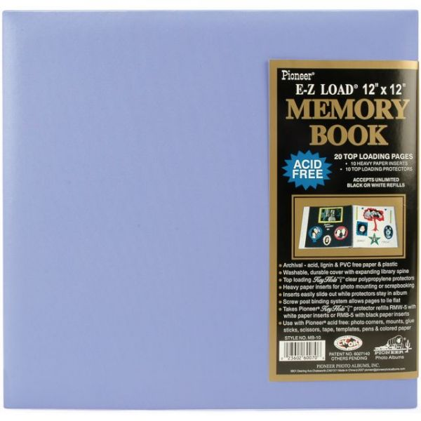 "Pastel Leatherette Post Bound Album 12""X12"""