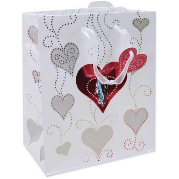 Large Wedding Foil Gift Bag