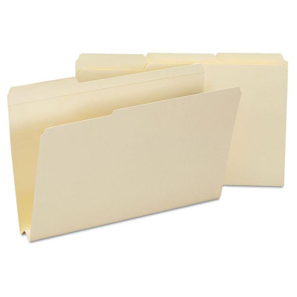Smead Heavyweight File Folders, 1/3 Tab, 1 1/2 Inch Expansion, Legal, Manila, 50/Box